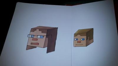 Sabine and Ciarán, Minecraft style